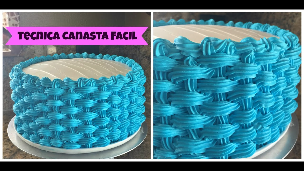 Tecnica Canasta En Un Pastel De Chantilly Madelin S Cakes