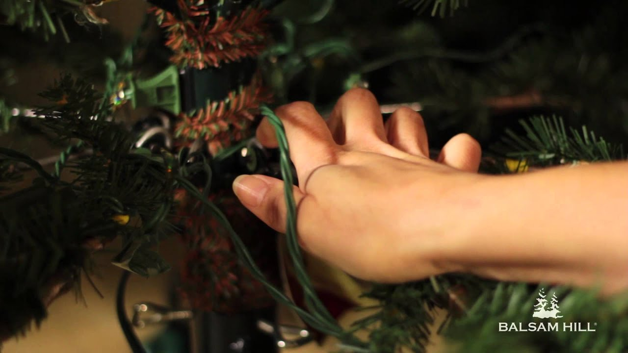 How To Fix A Sagging Branch On An Artificial Christmas Tree Youtube