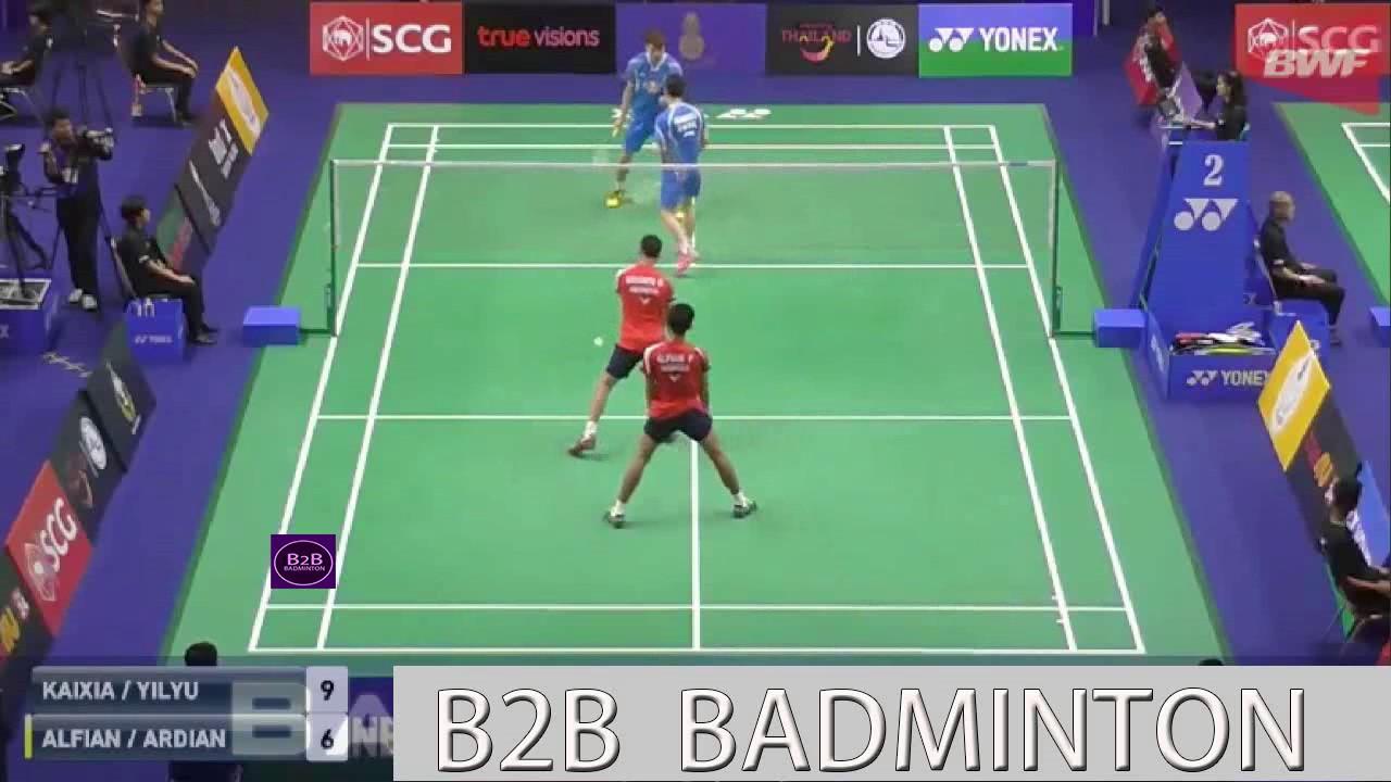 Badminton 2017 ThailandMaster HUANG Kaixiang WANG Yilyu vs Fajar