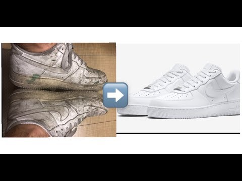 How To Clean Air Force 1's (LIKE NEW!!!)