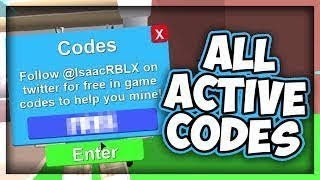 All new Codes {2018} Roblox Mining Simulator