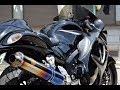 |GSX1300R Hayabusa| r's gear ワイバン 排気音と足つき+おまけ