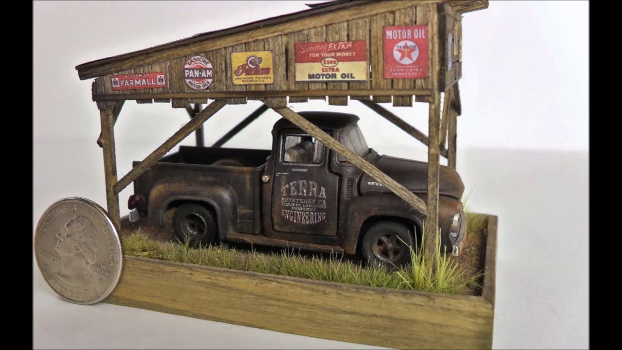 164 Barn Find Carport Diorama For Sale On Ebay SOLD