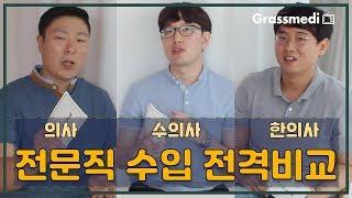 수의사 의사 한의사 전문직 연봉 비교