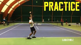 Novak Djokovic Practice for Paris Masters - Monte Carlo 2019 (HD)