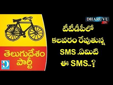 టీటీడీపీలో కలవరం రేపుతున్న SMS. ఏమిటి ఈ SMS.? Dharuvu TV