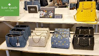 KATE SPADE OUTLET SHOPPING * HANDBAGS 70% OFF PLUS 20% SALE SHOP WITH ME 2019