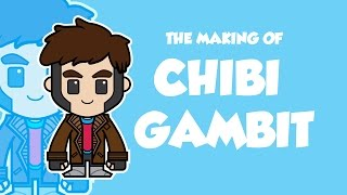 VECTOR ART : The Making Of Chibi Gambit from X-Men