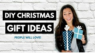 DIY CHRISTMAS GIFT IDEAS PEOPE ACTUALLY WANT!