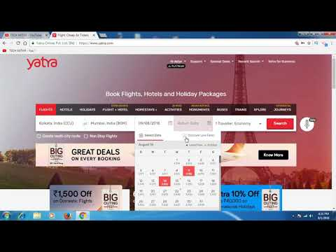 How To Book Flight Ticket Through Yatra.com II Full Process In Hindi
