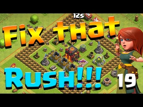 Clash of Clans: Let's FIX THIS RUSH!! ep19 - MAX ARMY CAMPS!!  DE FARMING