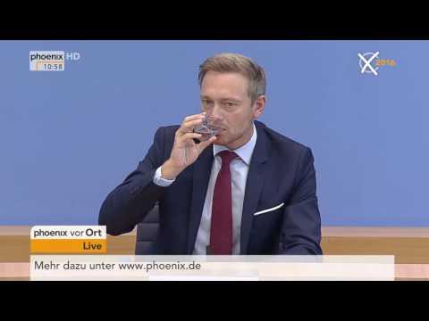 Abgeordnetenhauswahl in Berlin: Pressekonferenz der FDP mit Christian Lindner am 19.09.2016