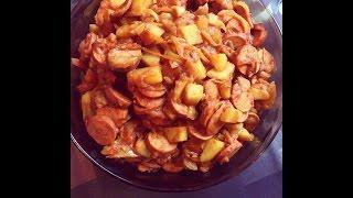 Spicy Persian Sausage and Potatoes Sosis Bandari سوسیس بندری