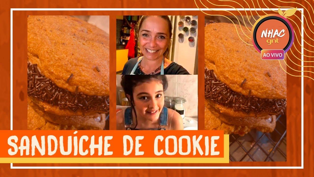 SANDUÍCHE DE COOKIE com sorvete: veja como fazer doce irresistível | Lives da Quarentena