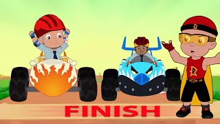 Mighty Raju - The Car Racing Competition | Cartoons for kids in Hindi