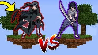 ILHA DO ITACHI VS ILHA DO SASUKE no MINECRAFT !! (NARUTO SHIPPUDEN)