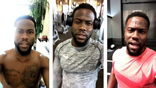Kevin Hart's workout in the gym | Snapchat