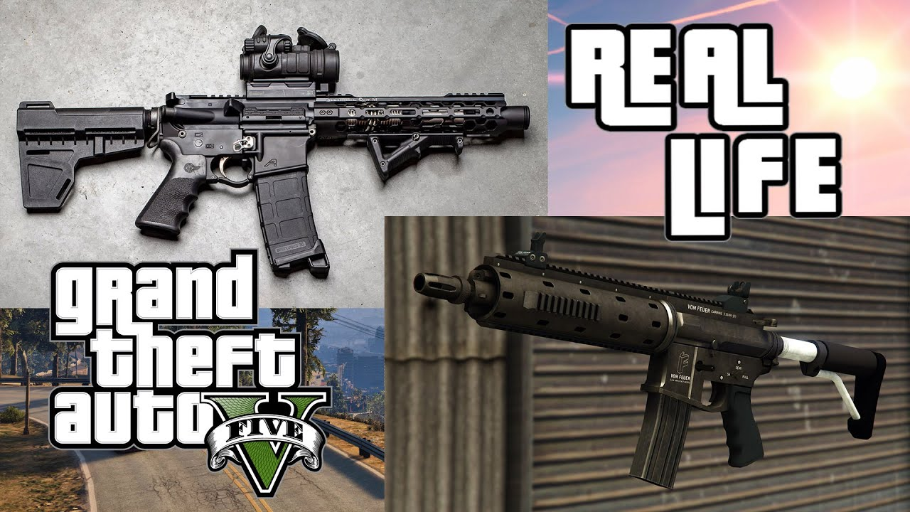 GTA V Guns In Real Life | Assault Rifles