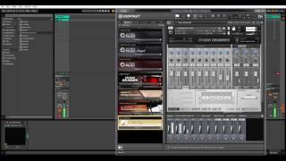 How to set Multiple outputs for Studio drummer in Ableton Live