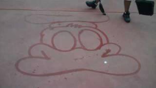 Donald Duck Water Art at Magic Kingdom