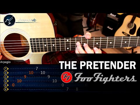 Como tocar The Pretender FOO FIGHTERS en Guitarra Acustica o Electrica | Tutorial COMPLETO