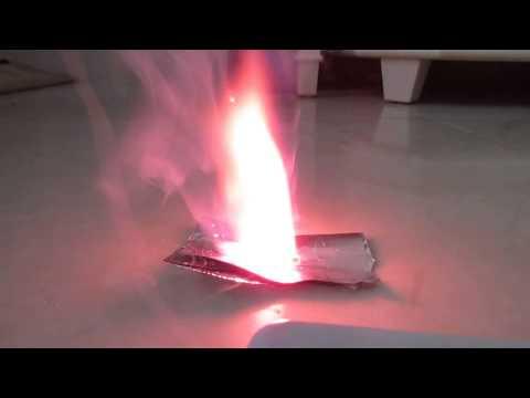 Lithium Perchlorate / Hexamine propellant burn test