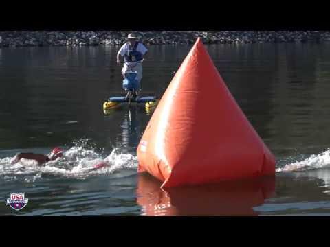 2017 MEN'S 5K OPEN WATER JUNIOR NATIONAL CHAMPIONSHIPS - Full Race From Boat