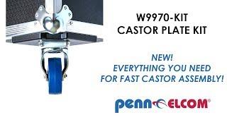 Penn Elcom W9970-KIT Castor plate kit
