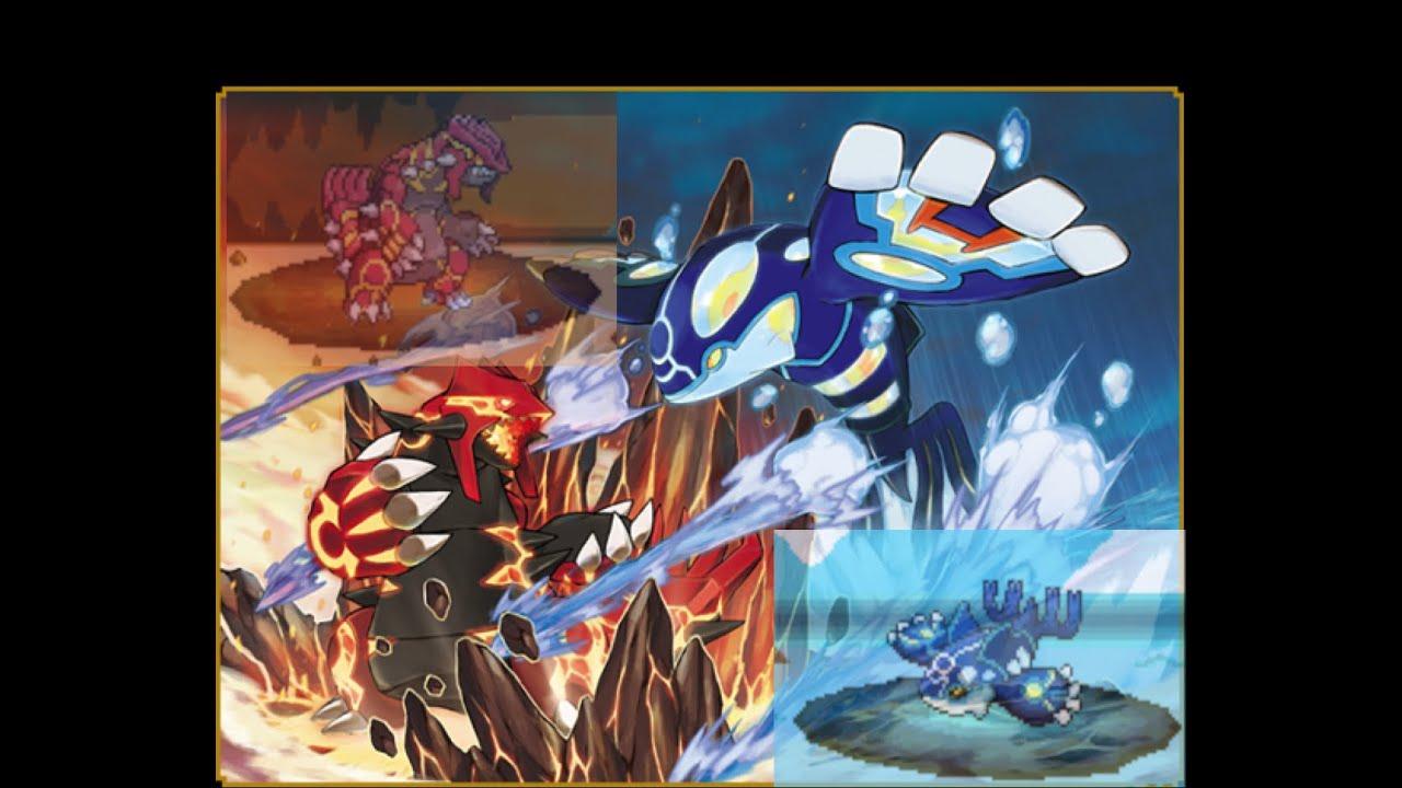 Primal Kyogre Vs Primal Groudon 梦的光点 Pokemon Dreamlight Vs Primal Groudon And Primal Kyogre