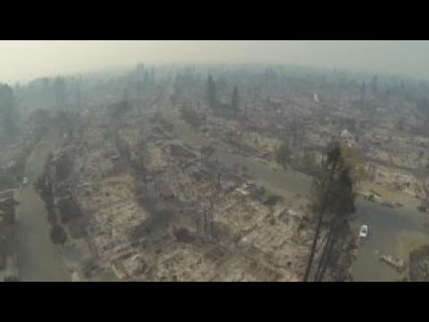 Cal wildfires: Drone footage captures Santa Rosa decimation