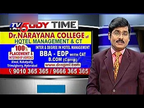 Study BBA & EDP In Dr.Narayana College | Study Time | TV5 News