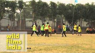 Soccer practise session at Delhi Public School in Gurgaon