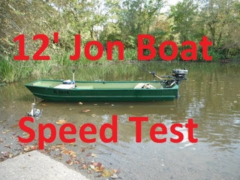 Sears Gamefisher 12' 7HP Jon Boat Speed Test And Pruning Cypress Trees With A Stihl MSA120
