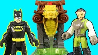 New Imaginext Batman & Ooze Pit + Bruce Wayne In Ninja Disguise & Ra's al Ghul Gets Slimed