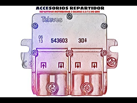Video de Repartidor distribuidor 3 salidas 8.5/7.5 dB  Gris