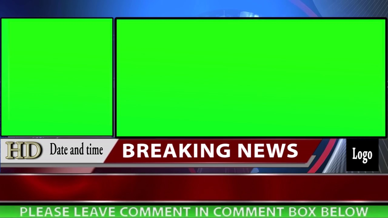 Free News Background With Two Green Screen Motion