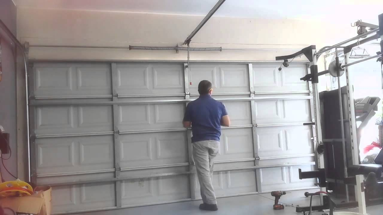 Garage Door Brace sos garage door service - strut it up - youtube
