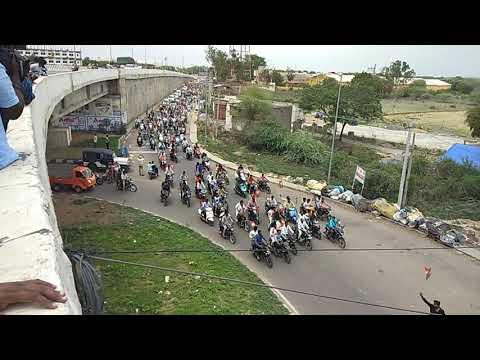 Bjp bandi Sanjay anna bike rally in karimnagar