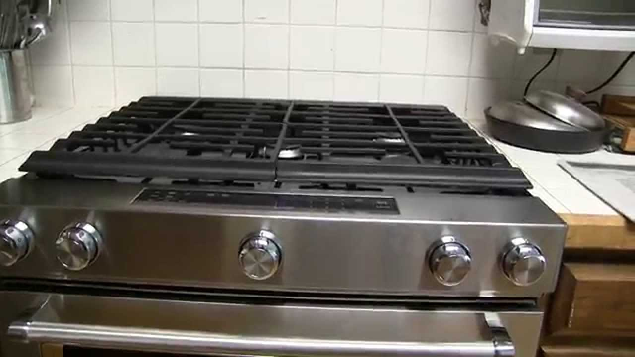 Kitchenaid 5 8 Cu Ft Gas Range With Convection Oven Model