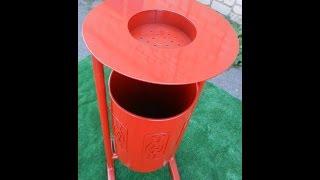 Урна УК-3  www.rmz.prom.ua, litter bin(Урна металлическая с пепельницей. Видео обзор. Смотрите другие видео на моем канале., 2014-08-11T07:32:20.000Z)