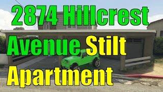 GTA 5 Online 2874 Hillcrest Avenue Stilt Apartment DLC