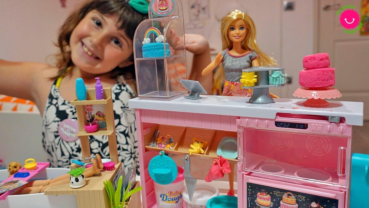 Barbie Pastelera necesita una tarde de SPA ⭐️ Nuevos juguetes de Barbie