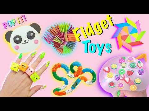7 DIY – SUPER EASY FIDGET TOYS IDEAS – Panda POP IT – POP  IT Rings and more by Girl Crafts