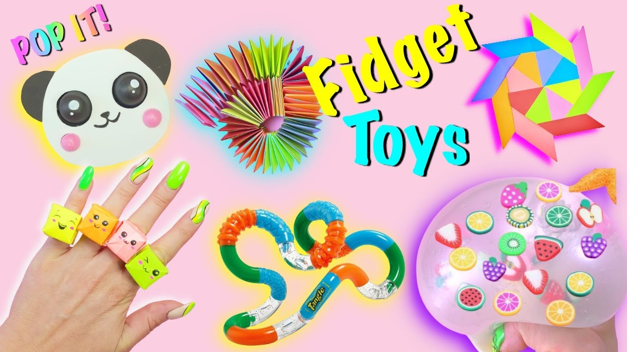 7 DIY - SUPER EASY FIDGET TOYS IDEAS - Panda POP IT - POP  IT Rings and more by Girl Crafts