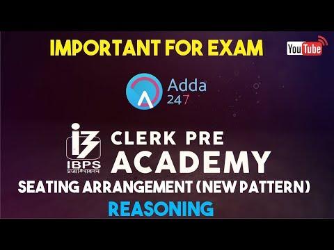 IBPS CLERK PRE | Seating Arrangement (New Pattern) | Reasoning |  Online Coaching for SBI IBPS