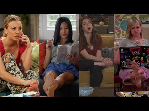 Top Sitcom TV FEET?? (feet Compilation With Kaley Cuoco, Jennifer Aniston And More)