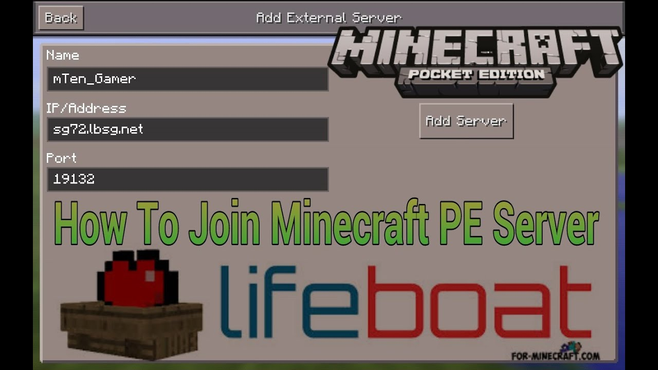 How to join Minecraft PE server (Lifeboat)|របៀបចូលលេង ...