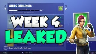 FORTNITE SAISON 5 SEMAINE 4 DÉFIS FUITE! ALL Week 4 Challenges GUIDE EASY!!