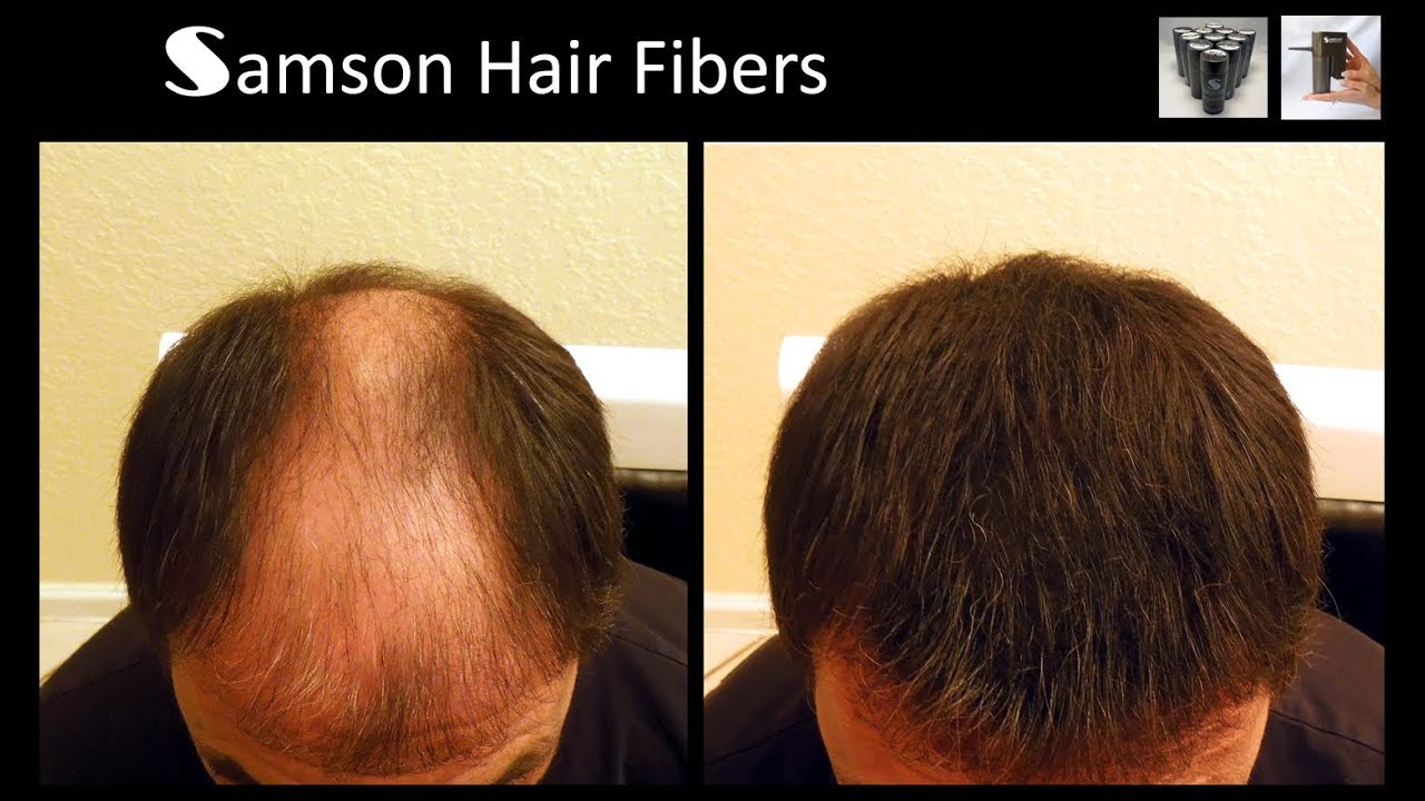 samson hair building fiber refills and electronic sprayer