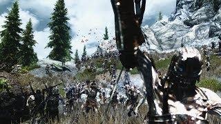 Skyrim Wars - (With LOTR music) [Machinima]